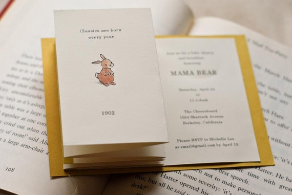 Baby Shower/Birthday Invitation Set- Classic Children's Books Theme- Customizable