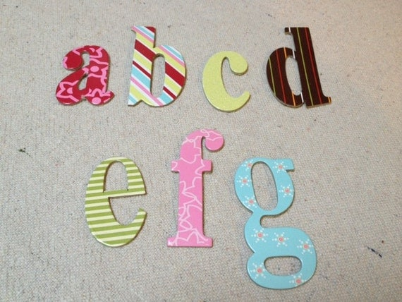 Die Cut Scrapbooking Sticker Letters, Mixed Lot of 100 Sticker Letters, Scrapbook Supplies