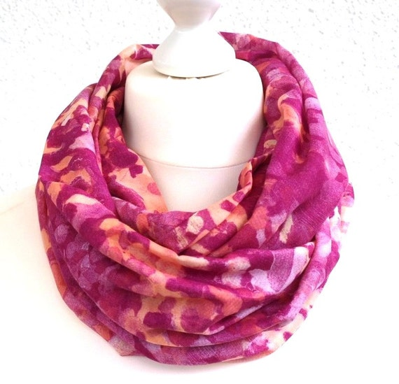 Pink Infinity Scarf Hot Animal Womens Neck Scarf