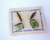 Vintage Glass Cuff Links