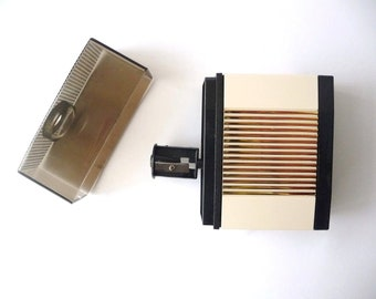 Pencil Sharpener, Mechanical, Battery Power, Vintage Office, Retro