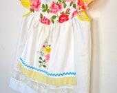 Tattered Alice......Lorina Flutter Apron Pillowcase Dress....sz 3