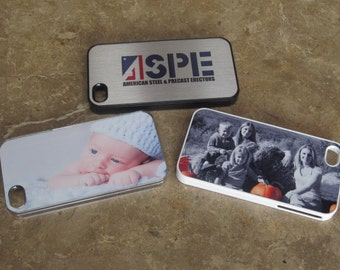 Personalized Photo Iphone 5 5S Case with photo, logo and text of your choice.