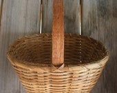"Williamsburg Basket, Medium - Functional, Handwoven, 5"" x 8"""