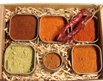 Chile Powder Sampler Collection with Ghost Chile - Hottest Chile in the World