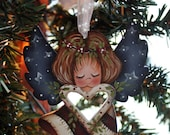 Americana Angel Ornament With Heart Cut Out