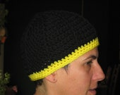 Livestrong Black Beanie with Yellow Band