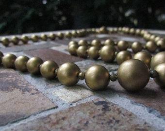 Mid-Century Goldtone Beads