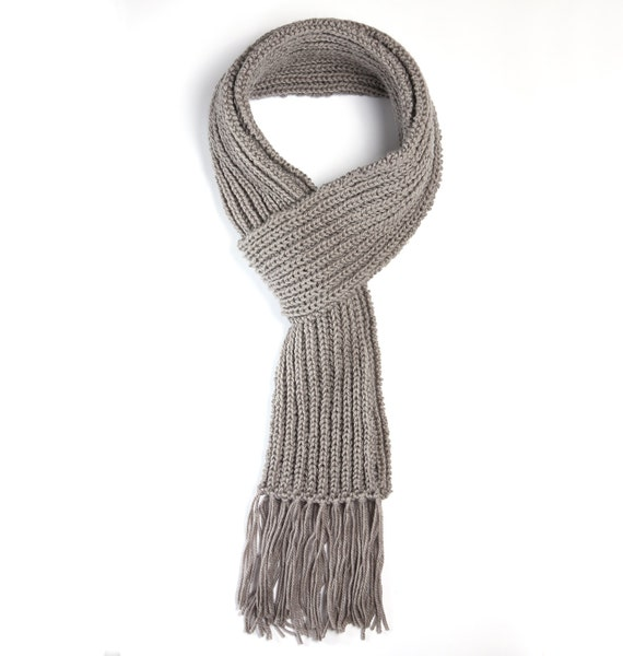 Hand knitted soft warm scarf