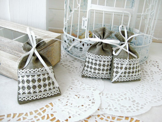 Wedding Favor Bags For Candy : Wedding favor bags - Natural Rustic Linen Wedding Favor Bag or Candy ...
