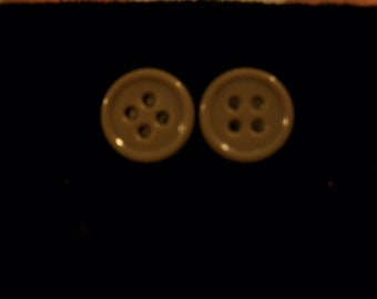 Homemade Button Earrings