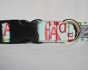 """1"""" Large Breed Dog Collar - Holiday Songs"""