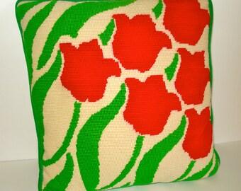 Retro Tulip Pillow