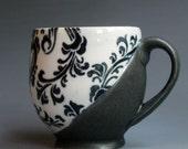 Black and white pattern mug