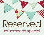 RESERVED LISTING for Lacy Stroessner