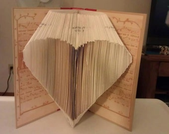 "Folded Book Art  ""Heart"" - Made to order"