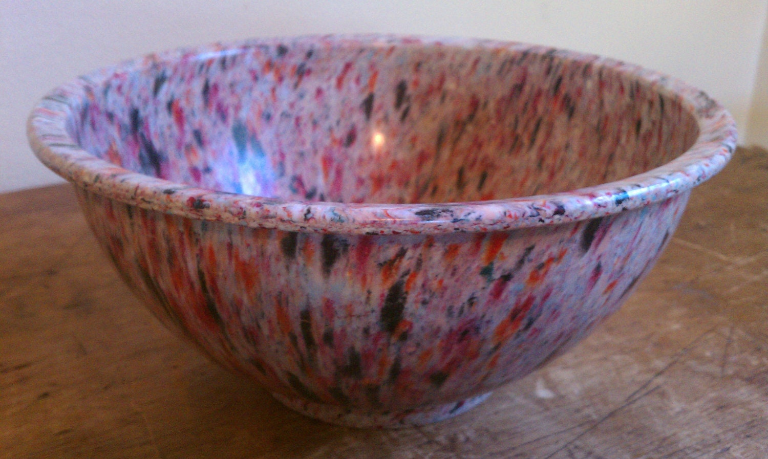 Vintage texas ware melamine confetti mixing bowl for Vintage sites like etsy