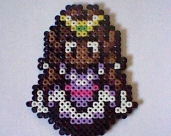 The Legend of Zelda Princess Zelda  perler bead creation....melted beads with magnet on back