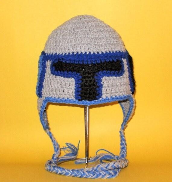 Free Crochet Hat Patterns Star Wars : Crochet Pattern PDF Jango Fett Hat. Beanie and Earflap. All