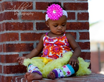 Crochet Headband,Baby Headbands,Crochet Headband Baby,Flower Headband,Flower Clip,Polka Dot Flower Clip,Daisy Headband,Flower Hair Clip