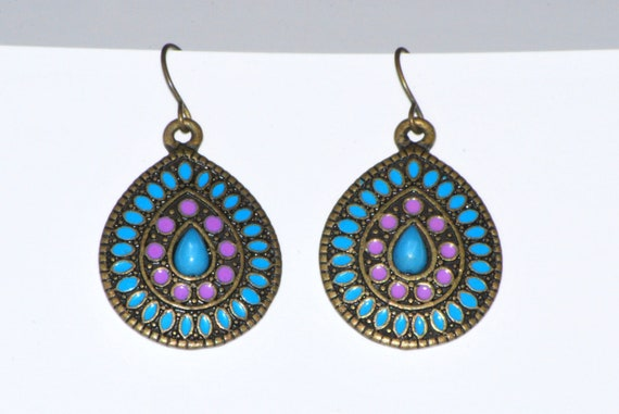 Colorful designer earrings with classic authentic looks