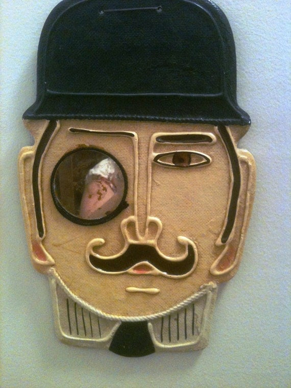 Sherlock Holmes Detective Inspector Closeau Wall Hanging With Monocle Mirror