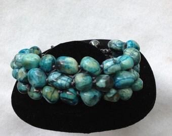 Women shamballa Bracelet-light blue,green
