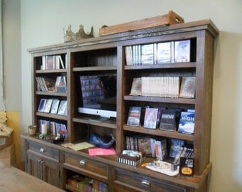 BUFFET/BOOKCASE from reclaimed pine wood.  USA made.