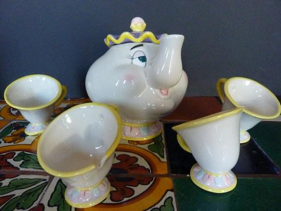 Vintage Beauty And The Beast Mrs Potts Tea Set By