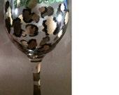 cheetah girl wineglass