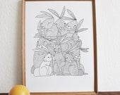 Them Crooked Rabbits - Print