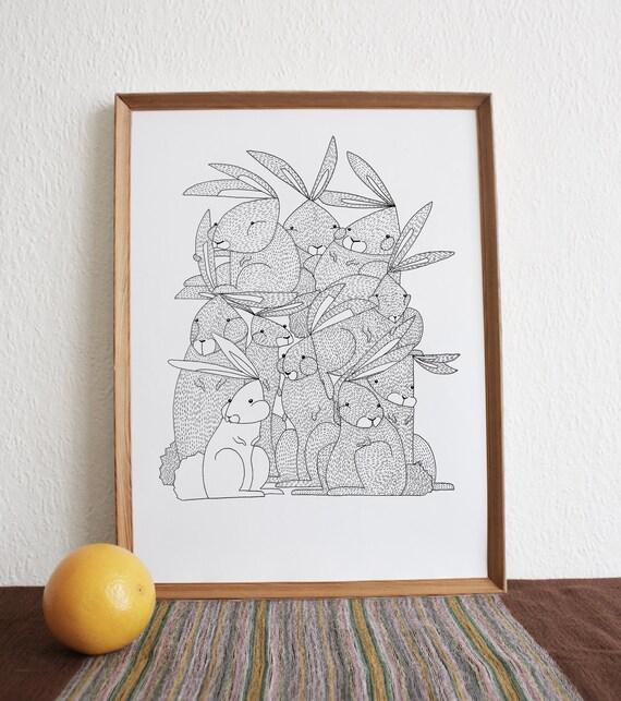 Them Crooked Rabbits - Print