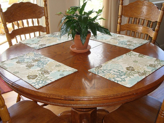 Modern Floral Placemat Set of 4