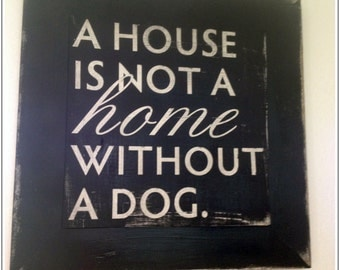 A house is not a home wooden sign