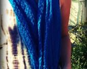 Handmade Vintage Cobalt Blue Scarf