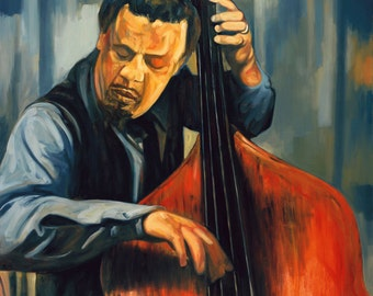 Portrait of Charles Mingus - 11x14 Archival Art Print by Scott Laumann