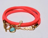 SunKissed Sisters neon cord wrap bracelet-  It's Love neon collection