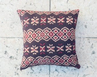 "Tribal IKAT Throw PILLOW COVER - 20""x20"" inch, Ethnic pillowcase, Decorative pillow, Home decor, Living decor, Boho pillow, Indie pillow"