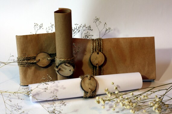 Invitation, scroll invitation, invitation decor, wedding cards, wedding decor, rustic wedding decor, rustic decorations, Wood Tags, 12 pcs