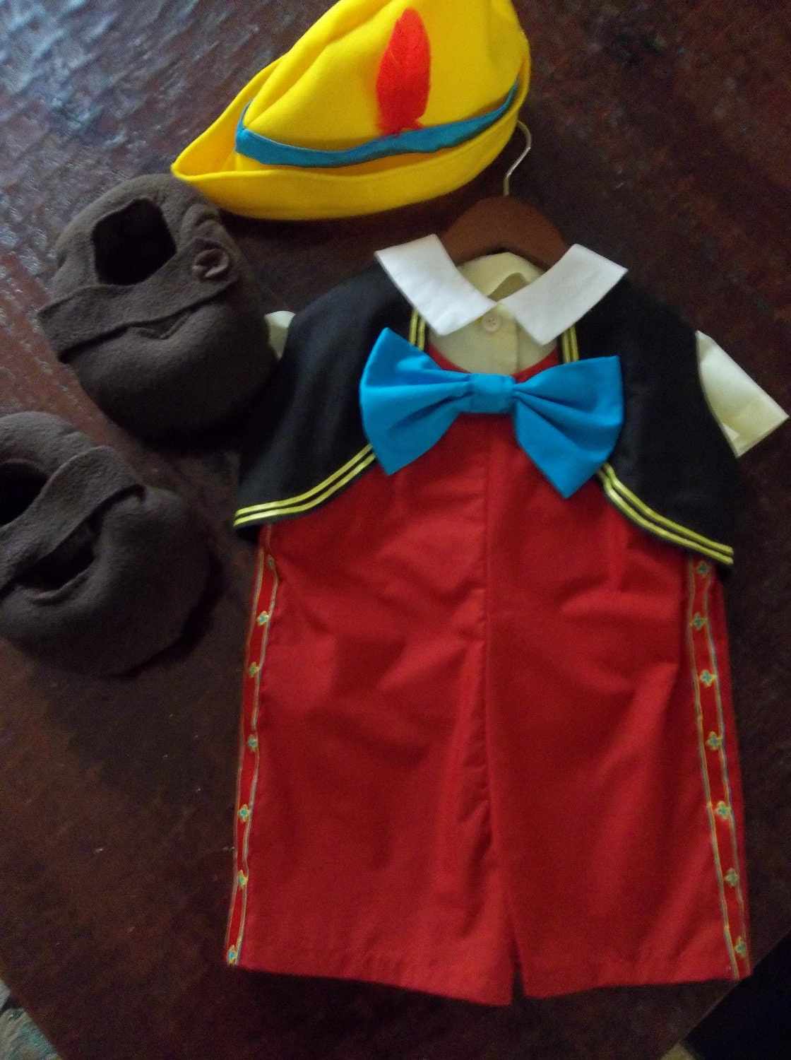 pinocchio hat template - disney inspired pinocchio costume halloween size 3 boys