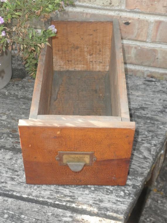 Rustic Vintage Hardware Store Drawer