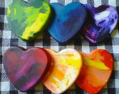 Recycled Marbled Heart Crayons