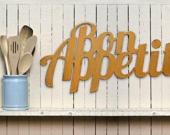 wooden Bon Appetit sign
