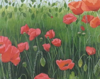 Poppies Notecard Set