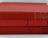 VINTAGE RED BOOK Stack