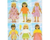 Butterick 5452 - 18-Inch Doll Wardrobe - Patterns for 6 Modern Summer Outfits  - Like New Unused