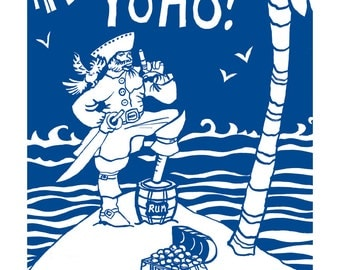 Yoho pirate print, A3