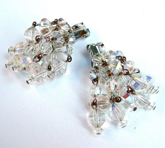 Vintage Beaded Fringe Earrings