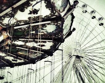 Amusement Park Ferris Wheel Swings -  Photography - Ocean City, NJ -  9x12