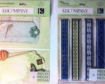 K&Company Embellishments - Journal Tags and Paper Ribbon